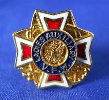 Vintage VFW Veterans Foreign Wars Ladies Auxiliary Enamel Lapel Pin Brooch