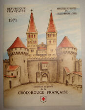 TIMBRES LOT CARNET CROIX ROUGE FRANCAISE 1971