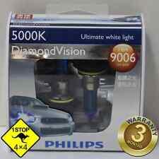 A Pair of Genuine Philips 9006 HB4 12V 55W 5000K Diamond Vision Bulbs