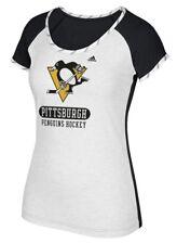 "Pittsburgh Penguins Women's Adidas NHL ""Skates"" Dual Blend Premium T-shirt"