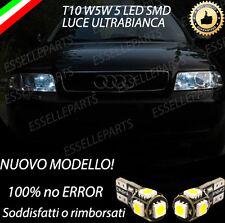 COPPIA LUCI DI POSIZIONE 5 LED AUDI A6 C5 T10 W5W CANBUS 100% NO ERROR