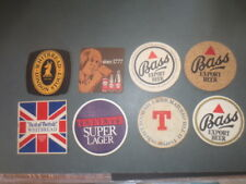 "8 different English Beers "" for "",NEW ZEALAND Issue Beer Coasters 1980,s"