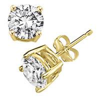 Diamant Ohrstecker 0,25 Karat 585 Gelbgold Schmuck Diamant Ohrring Ohrschmuck