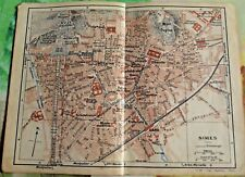1930 the guide of the old town Nîmes department 30 France old map art print