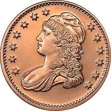 100 Ounces Of Copper 1 oz Each LIBERTY CAPPED BUST HALF Design  Bullion Rounds