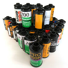 35mm film cassettes, QTY 25 Assorted empty Kodak, Fuji, Ilford and more
