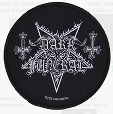 DARK FUNERAL - PENTAGRAM - WOVEN PATCH - BRAND NEW - MUSIC BAND 2886