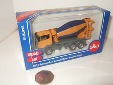 Siku 1896 Cement Mixer 3 Axle Truck Diecast Model in 1:87 Scale.