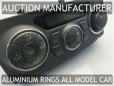 Toyota Celica 99-06 Dash Air Con Aluminiun Chrome Rings Heater Control Surrounds