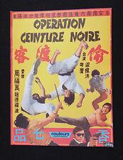 OPERATION CEINTURE NOIRE photo scenario film 1973 KUNG FU Karaté