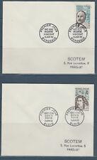 enveloppe 1er jour série des 6 célébrités  de   1962