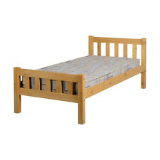 Carlow Bed Frame - Single 3ft - Antique Pine - Wooden Solid