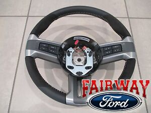 10 thru 14 Mustang OEM Ford Alcantara Suede Leather Steering Wheel Shelby GT500