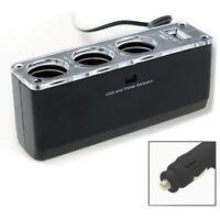 3 Triple allume-cigare 12V / 24V pour voiture USB Power