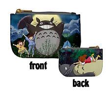 2 Sides CUTE Totoro Mini Coin Purse Anime Studio Ghibli Miyazaki wallet bag gift