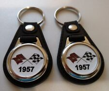 1957 keychain 2 pack  CHEVROLET Bel Air Impala NOMAD Delray TRI-FIVE