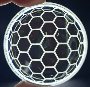 """3"""" Inch New Clear Custom Etched Headlight Projector Lenses Lens - HONEYCOMB"""
