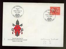 Suiza 1969 Papa Pablo Vi Visita Fdc