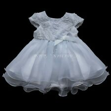 Newborn Baby Girl Chtistening Baptism Formal Dress Wedding Party Bridesmaid 0-3M