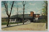 Bristol Pa Pennsylvania Railroad P.R.R. Depot 1913 Postcard N5