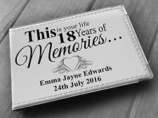 """Personalised guestbook photo album 36 x 6x4"""" my 18th year memory book, birthday"""
