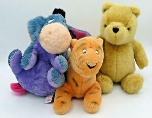 Winnie The Pooh Classic Pooh Eeyore Tigger Plush Disney Gund LOT Stuffed Animal