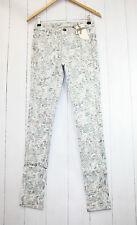 Cream Hose Laney Pants Gr 36  Stretch  Blumen  Print  Neu