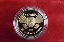 *Ukraine 200000 Karbowanez 1996 PP(Vergoldet)*100 Jahre Olympische Spiele (BOX2)
