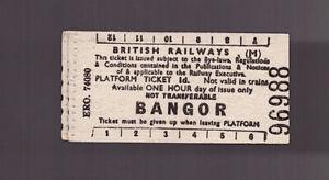 British Railways (Midland) Platform Ticket - Bangor (L.M.)