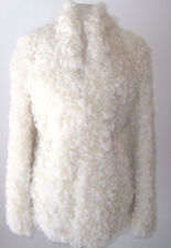 MAISON MARTIN MARGIELA Ivory Curly Lamb Sheepskin Fur Coat 40 4
