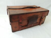 "Vintage Hardy Leather ""Hold-All"" Fishing Tackle Case....For Reel...Lures....etc."