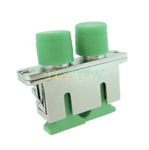 10 PCS Metal Section of SC-FC APC Duplex female to female Fiber Flange Adapter
