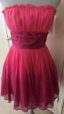 Betsey Johnson Short Strapless Silk Dress Pink/Purple 2