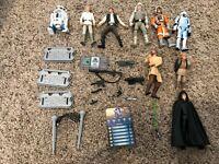 Loose Star Wars Figures, Weapons & Misc Lot Han Solo Luke Anakin R2-D2