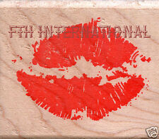 Kissing Mouth ~ ANM Wood Mount Rubber Stamp #385E Love, Lips, Kiss, Romance, New