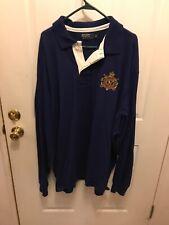 Men's Polo Ralph Lauren 3XLT Big & Tall Rugby Shirt Hoodie Sweatshirt  Blue