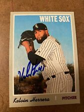 KELVIN HERRERA White Sox SIGNED 2019 Topps Heritage High Number baseball card