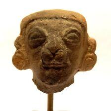 TETE TUMACO LA TOLITA PRECOLOMBIEN - ECUADOR 500 BC / 500 AD PRE COLUMBIAN HEAD