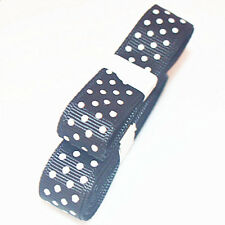 "3yds 5/8""(15 mm) Black Christmas Ribbon Printed lovely Dots Grosgrain"