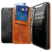 For T-Mobile REVVLRY Leather Wallet Case Magnetic Flip Credit Card Holder Cover