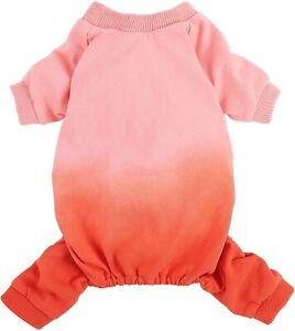 Fitwarm 100% Cotton Lightweight Dog Dip Dye Pajamas Doggie PJS Girl Costumes