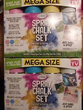 Lot of 2 As Seen on Tv Spray Chalk Kit Pastel by Rust-Oleum Mega Size