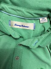Tommy Bahama Polo Shirt All Square Marlin Logo Granita Green Medium