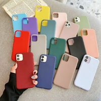 For iPhone 12 Pro Max mini 11 XR 7 8 XS Silicone Slim TPU Soft Phone Case Cover