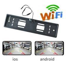 EU European Car License Plate Frame WiFi Rear View Camera Backup Camera