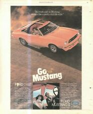 """(RST4) POSTER/ADVERT 13X11"""" FORD MUSTANG II"""