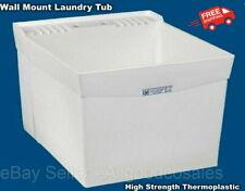 New listing Wall Mount Slop Sink Laundry Utility Tub Wash Room Garage Basement Backyard