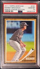 2011 TOPPS HERITAGE MINOR LEAGUE EDITION MANNY MACHADO ROOKIE CARD #161 PSA 10