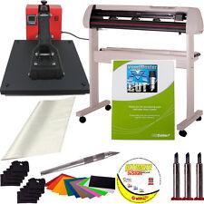 """25"""" USCutter SC Vinyl Cutter + 15x15 Heat Press + Tools/Supplies - Sign Shop Kit"""