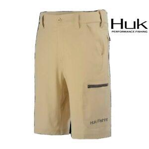 """Huk Next Level 10.5"""" Light Khaki Tan Shorts Sz S 28""""-29"""" New NWT Ret. $59.99"""